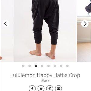 lululemon athletica Pants - Lululemon Happy Hatha Crop Harem Pants - Black